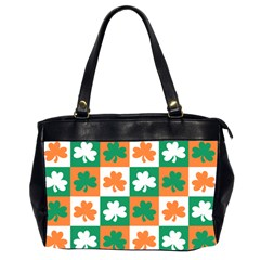 Ireland Leaf Vegetables Green Orange White Office Handbags (2 Sides)