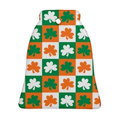 Ireland Leaf Vegetables Green Orange White Ornament (bell) by Alisyart