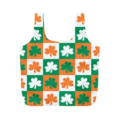 Ireland Leaf Vegetables Green Orange White Full Print Recycle Bags (m)