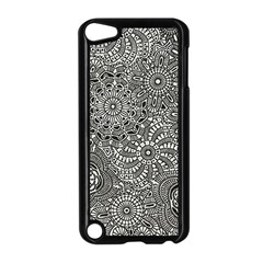 Flower Floral Rose Sunflower Black White Apple Ipod Touch 5 Case (black)