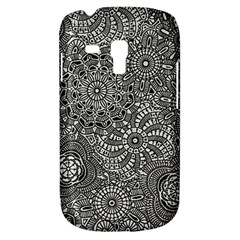 Flower Floral Rose Sunflower Black White Galaxy S3 Mini by Alisyart