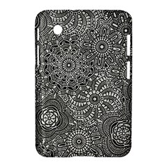 Flower Floral Rose Sunflower Black White Samsung Galaxy Tab 2 (7 ) P3100 Hardshell Case  by Alisyart