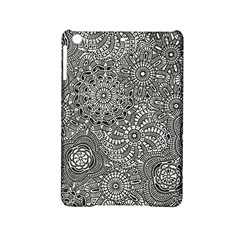 Flower Floral Rose Sunflower Black White Ipad Mini 2 Hardshell Cases