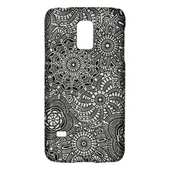 Flower Floral Rose Sunflower Black White Galaxy S5 Mini