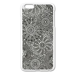 Flower Floral Rose Sunflower Black White Apple Iphone 6 Plus/6s Plus Enamel White Case by Alisyart