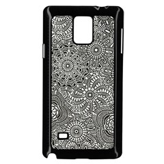 Flower Floral Rose Sunflower Black White Samsung Galaxy Note 4 Case (black) by Alisyart