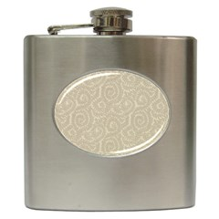 Leaf Grey Frame Hip Flask (6 Oz) by Alisyart