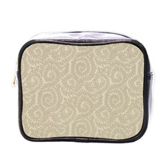 Leaf Grey Frame Mini Toiletries Bags by Alisyart