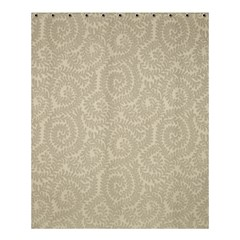 Leaf Grey Frame Shower Curtain 60  X 72  (medium)