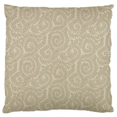Leaf Grey Frame Standard Flano Cushion Case (one Side) by Alisyart