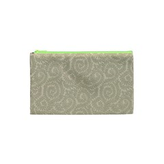 Leaf Grey Frame Cosmetic Bag (xs) by Alisyart