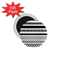 Love Heart Triangle Circle Black White 1 75  Magnets (100 Pack)