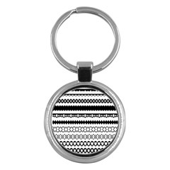 Love Heart Triangle Circle Black White Key Chains (round)  by Alisyart