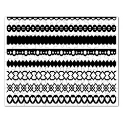 Love Heart Triangle Circle Black White Rectangular Jigsaw Puzzl by Alisyart