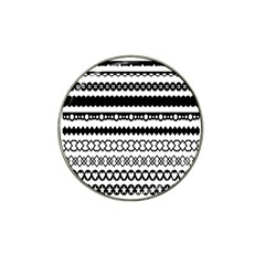 Love Heart Triangle Circle Black White Hat Clip Ball Marker (4 Pack)
