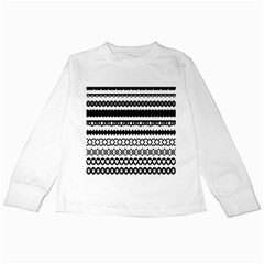 Love Heart Triangle Circle Black White Kids Long Sleeve T Shirts