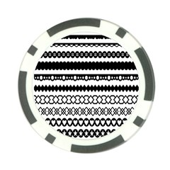 Love Heart Triangle Circle Black White Poker Chip Card Guard (10 Pack) by Alisyart