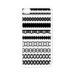 Love Heart Triangle Circle Black White Apple Iphone 4 Case (white) by Alisyart