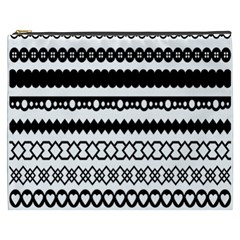 Love Heart Triangle Circle Black White Cosmetic Bag (xxxl)