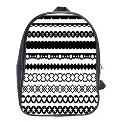 Love Heart Triangle Circle Black White School Bags (xl)  by Alisyart