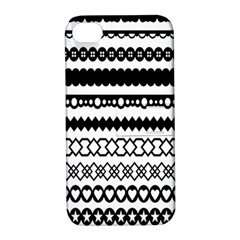 Love Heart Triangle Circle Black White Apple Iphone 4/4s Hardshell Case With Stand