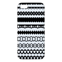 Love Heart Triangle Circle Black White Iphone 5s/ Se Premium Hardshell Case by Alisyart