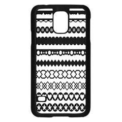 Love Heart Triangle Circle Black White Samsung Galaxy S5 Case (black) by Alisyart