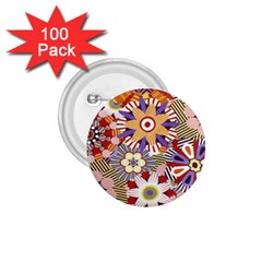 Flower Floral Sunflower Rainbow Frame 1 75  Buttons (100 Pack)  by Alisyart
