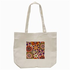 Flower Floral Sunflower Rainbow Frame Tote Bag (cream) by Alisyart