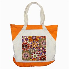 Flower Floral Sunflower Rainbow Frame Accent Tote Bag by Alisyart