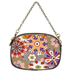 Flower Floral Sunflower Rainbow Frame Chain Purses (two Sides)  by Alisyart