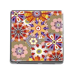 Flower Floral Sunflower Rainbow Frame Memory Card Reader (square) by Alisyart