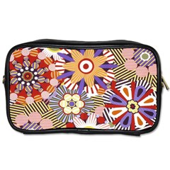 Flower Floral Sunflower Rainbow Frame Toiletries Bags 2 Side by Alisyart