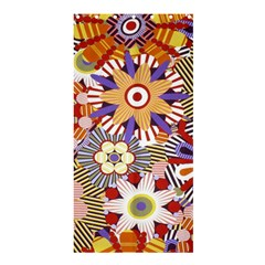Flower Floral Sunflower Rainbow Frame Shower Curtain 36  X 72  (stall)  by Alisyart