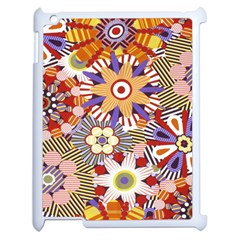 Flower Floral Sunflower Rainbow Frame Apple Ipad 2 Case (white) by Alisyart