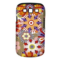 Flower Floral Sunflower Rainbow Frame Samsung Galaxy S Iii Classic Hardshell Case (pc+silicone) by Alisyart