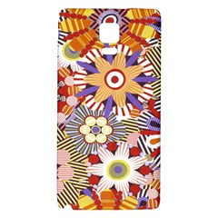 Flower Floral Sunflower Rainbow Frame Galaxy Note 4 Back Case by Alisyart
