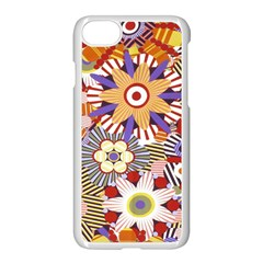Flower Floral Sunflower Rainbow Frame Apple Iphone 7 Seamless Case (white)