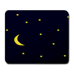 Moon Dark Night Blue Sky Full Stars Light Yellow Large Mousepads by Alisyart