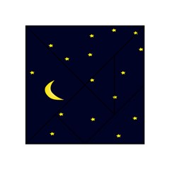 Moon Dark Night Blue Sky Full Stars Light Yellow Acrylic Tangram Puzzle (4  X 4 )