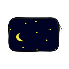 Moon Dark Night Blue Sky Full Stars Light Yellow Apple Ipad Mini Zipper Cases by Alisyart