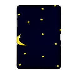Moon Dark Night Blue Sky Full Stars Light Yellow Samsung Galaxy Tab 2 (10 1 ) P5100 Hardshell Case  by Alisyart
