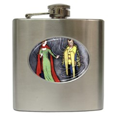 Beauty And The Beast Hip Flask (6 Oz) by athenastemple
