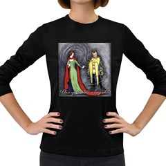 Beauty And The Beast Women s Long Sleeve Dark T Shirts by athenastemple