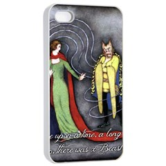 Beauty And The Beast Apple Iphone 4/4s Seamless Case (white)