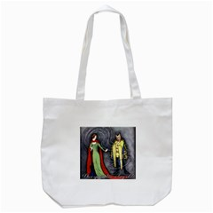 Beauty And The Beast Tote Bag (white) by athenastemple