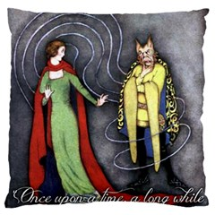 Beauty And The Beast Large Flano Cushion Case (one Side) by athenastemple