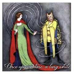 Beauty And The Beast Large Satin Scarf (square) by athenastemple