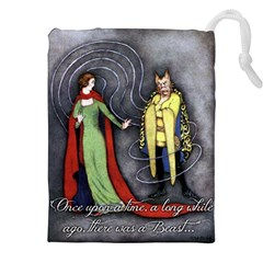 Beauty And The Beast Drawstring Pouches (xxl) by athenastemple