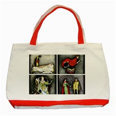 Fairy Tales Classic Tote Bag (red) by athenastemple